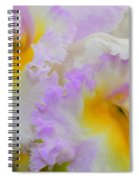 Macro Orchid Spiral Notebook