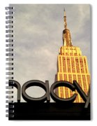 Macy's With Empire State Building - Famous Buildings And Landmarks Of New York City Spiral Notebook
