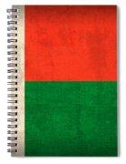 Madagascar Flag Vintage Distressed Finish Spiral Notebook