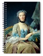 Madame De Sorquainville, 1749 Oil On Canvas Spiral Notebook