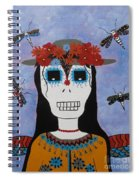 Madame Dragonfly Day Of The Dead Spiral Notebook