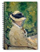 Madame Manet At Bellevue Spiral Notebook