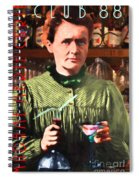 Madame Marie Curie Shaking Up A Killer Martini At The Swank Hipster Club 88 20140625 With Text Spiral Notebook