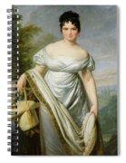 Madame Tallien 1773-1835 Oil On Canvas Spiral Notebook