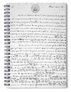 Madison To Jefferson, 1787 Spiral Notebook