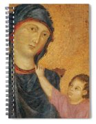 Madonna And Child Enthroned  Spiral Notebook