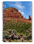 Madonna And Child Two Nuns Rock Formations Sedona Arizona Spiral Notebook