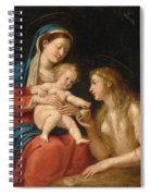 Madonna And Child With Mary Magdalene  Spiral Notebook