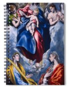 Madonna And Child With Saint Martina And Saint Agnes Spiral Notebook