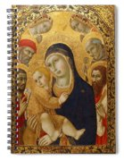 Madonna And Child With Saints Jerome John The Baptist Bernardino And Bartholomew Spiral Notebook