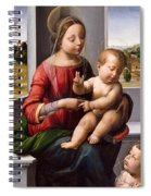 Madonna And Child With The Young Saint John The Baptist Spiral Notebook