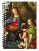 Madonna Of The Rocks Spiral Notebook