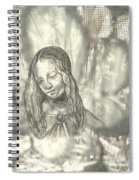 Madonna On Black And White Screen Spiral Notebook
