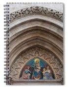 Madonna With Child On Matthias Church Tympanum Spiral Notebook