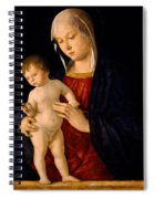 Madonna With The Child Blessing Spiral Notebook