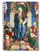 Madonna With The Child Enthroned  Spiral Notebook