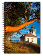 Madrone And Lighthouse Spiral Notebook
