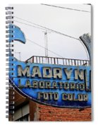 Madryn Lab Whale Sign Spiral Notebook