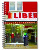 Magazin Liberal Dress Shop On Rue Notre Dame Montreal St.henri City Scenes Carole Spandau Spiral Notebook