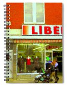 Magazin Liberal Notre Dame Ouest Dress Shop Strolling  St. Henri  Street Scenes Carole Spandau Spiral Notebook