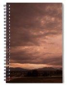 Magenta Clouds Spiral Notebook