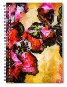 Magenta Flowers  -- Cubism Spiral Notebook