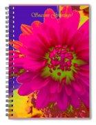 Magenta Greetings Spiral Notebook