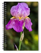 Magenta Iris Crop Spiral Notebook