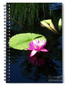 Magenta Lily Monet Spiral Notebook