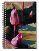 Magenta Lily Pads Spiral Notebook