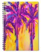 Magenta Palm Trees Spiral Notebook