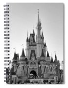 Magic Kingdom Castle In Black And White Spiral Notebook