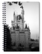 Magic Kingdom Castle Side View In Black And White Spiral Notebook