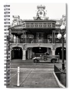 Magic Kingdom Train Station In Black And White Walt Disney World Spiral Notebook
