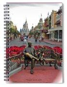 Magic Kingdom Walt Disney World 3 Panel Composite Spiral Notebook