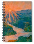 Magic Light At Carvins Cove Spiral Notebook