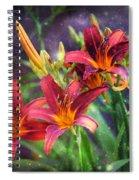 Magical Evening Daylilies Spiral Notebook