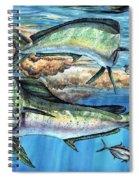 Magical Mahi Mahi Sargassum Spiral Notebook