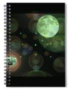 Magical Moonlight Clover Spiral Notebook