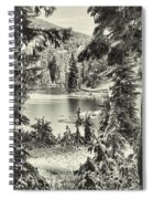Magical Morning - Bw Spiral Notebook