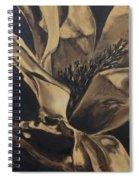 Magnolia Blossom In Sepia Spiral Notebook