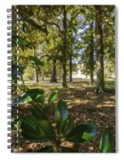 Magnolia Leaves Spiral Notebook