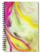 Magnolia Watercolor Abstraction Painting Spiral Notebook