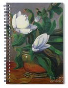 Magnolias On Brass Spiral Notebook