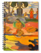 Mahana No Atua Aka. Day Of The Gods Spiral Notebook
