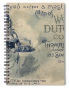 Maid Serving Coffee Advertisement For Woods Duchess Coffee Boston  Spiral Notebook