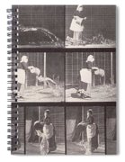 Maid Throwing A Bucket Of Water Spiral Notebook