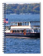 Mail Delivery Boat Lake Geneva Wisconsin Spiral Notebook