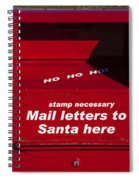 Mail Letters To Santa Here Spiral Notebook