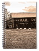 Mail Pouch Tobacco Barn And Sheep Spiral Notebook
